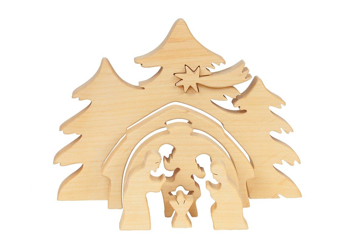 Stajenka, szopka bożonarodzeniowa zdrewna