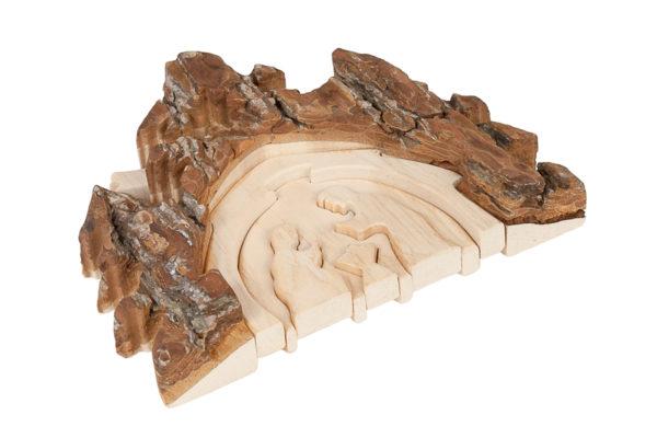 Drewniana stajenka bożonarodzeniowa