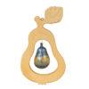 Ozdobna gruszka wykonana z drewna i szkła