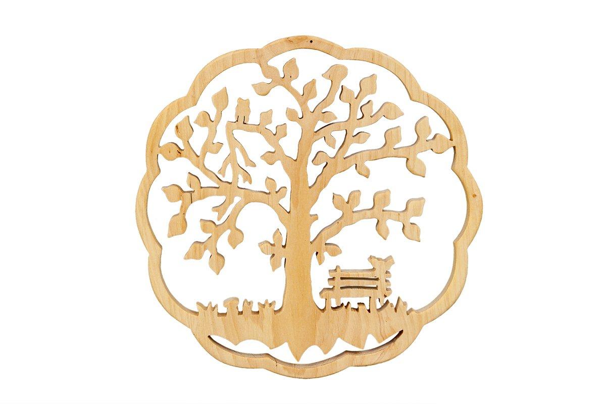 Ozdoba zdrewna - ażurowe drzewko