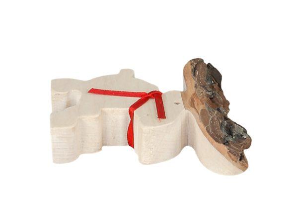 Renifer z drewna - oryginalna ozdoba, bombka na choinkę bożonarodzeniową