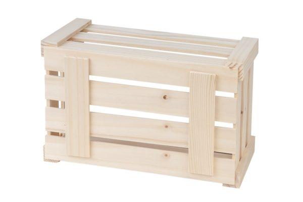 Zestaw 3 ozdobnych skrzynek z drewna