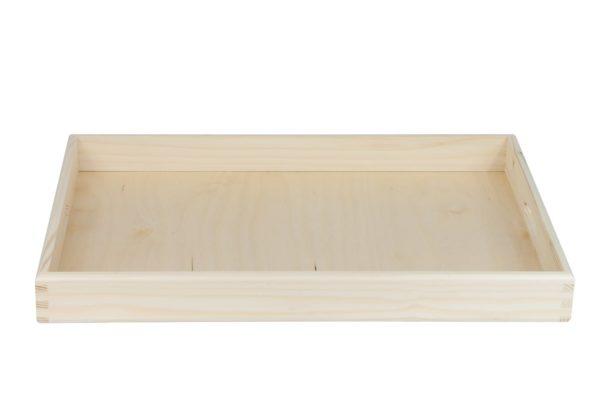 Lakierowana, duża taca z drewna