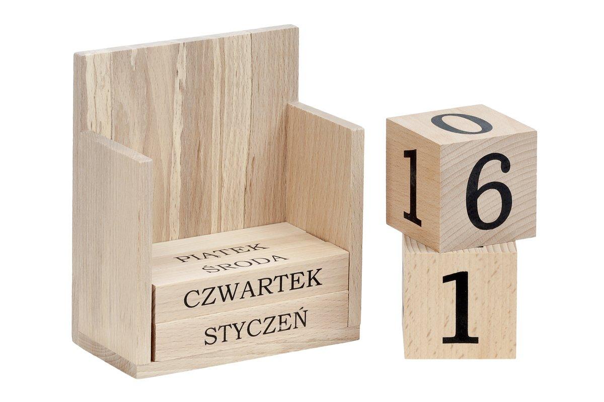 Kalendarz zdrewna - wieczny