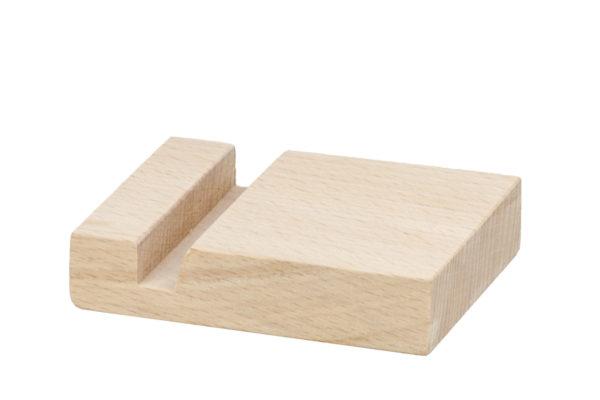 Drewniana podstawka pod telefon