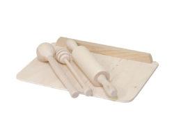 Drewniany zestaw akcesoriów