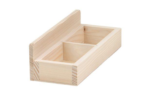 Drewniany stojak na wizytówki - wizytownik