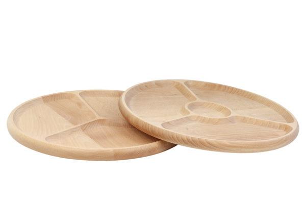 Drewniany półmisek, talerz dzielony