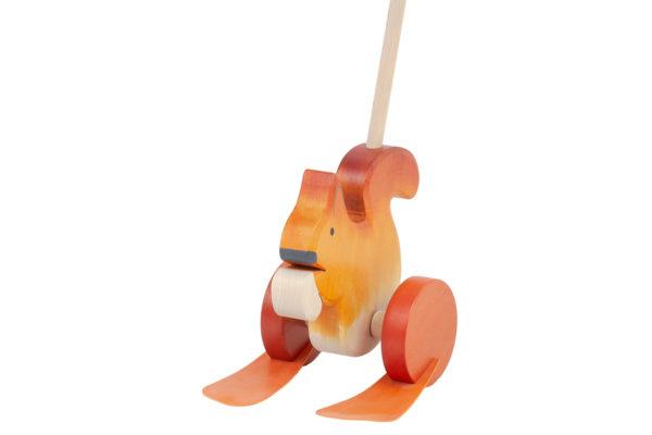 Drewniany jeździk, pchacz - Wiewiórka