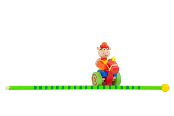 Pchacz, jeździk z drewna - małpka
