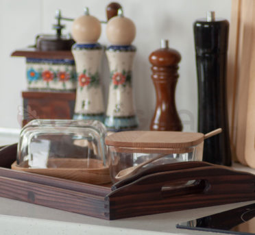 Przybory kuchenne wykonane z drewna