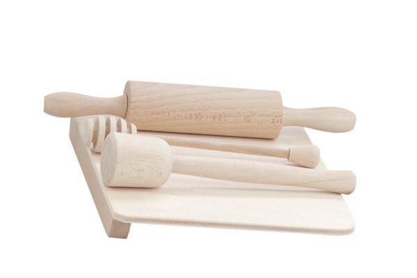 """Drewniany zestaw akcesoriów """"Mała kucharka"""""""
