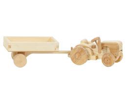 Traktor z drewna