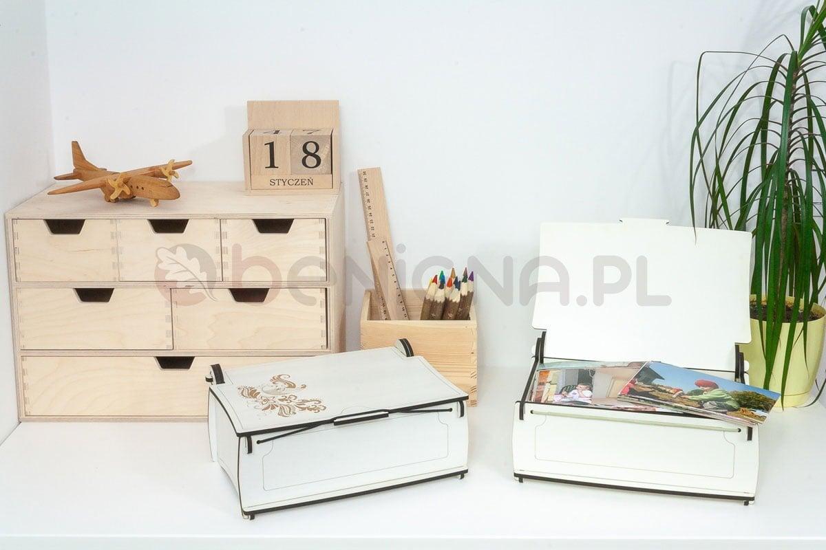 Ozdobne pudełko, kuferek zdrewna