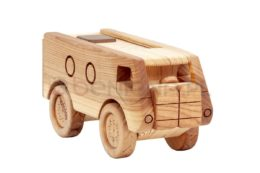 Drewniana ciężarówka rajdowa ze schowkiem - piórnik