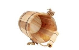 Ozdobne wiaderko drewniane