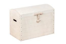 Ozdobny kufer z drewna, skrzynia