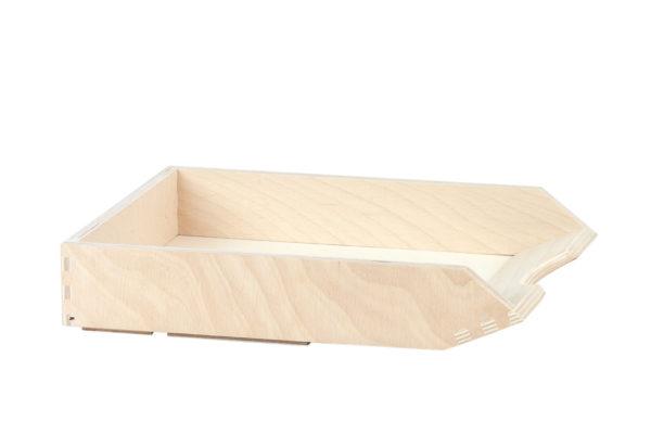 Przybornik, tacka z drewna na dokumenty