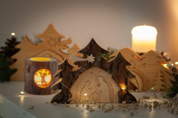Ozdoby świąteczne z drewna