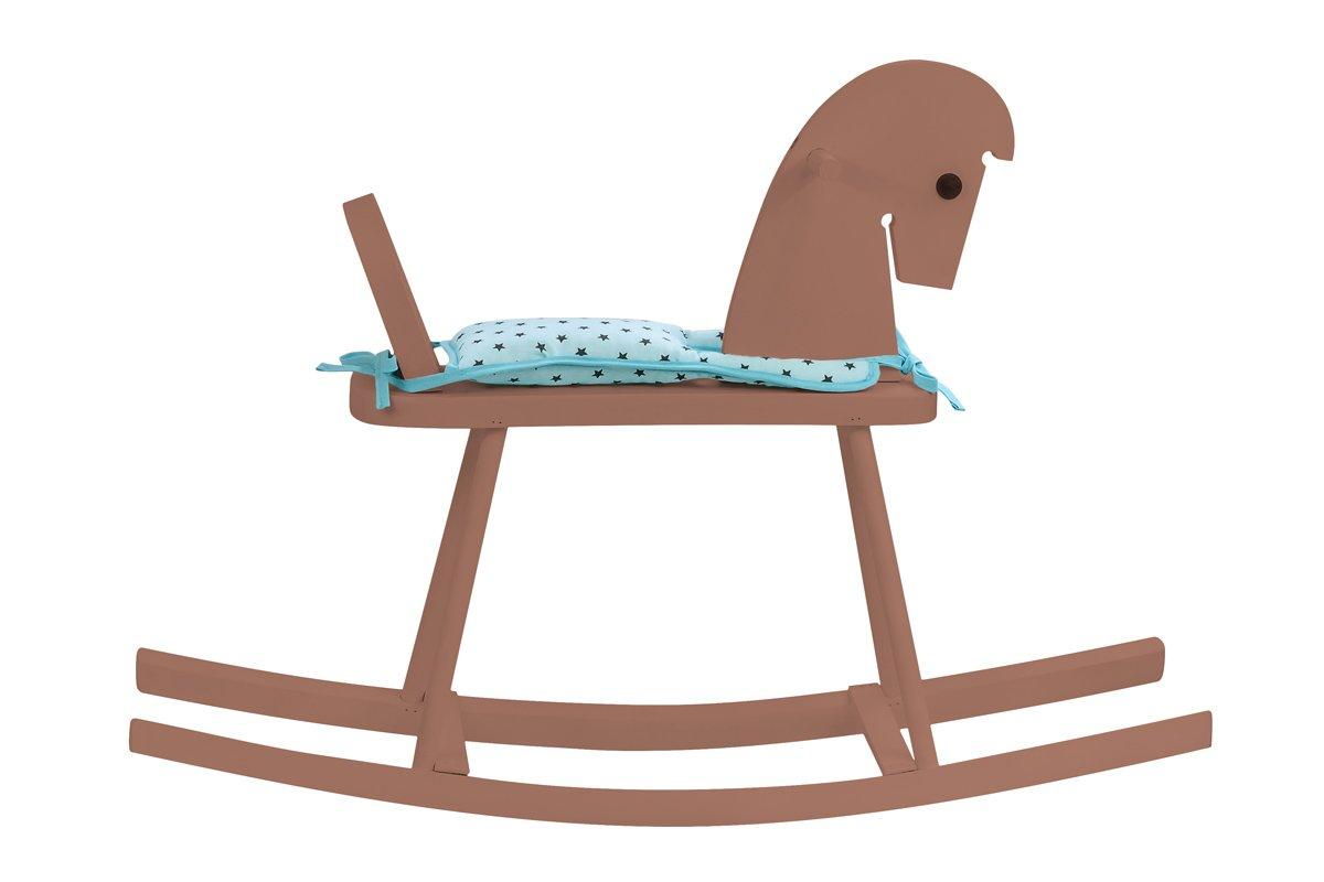 Drewniany konik nabiegunach - brązowy zsiodełkiem