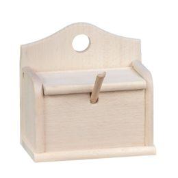 Drewniany pojemnik z klapką, solniczka