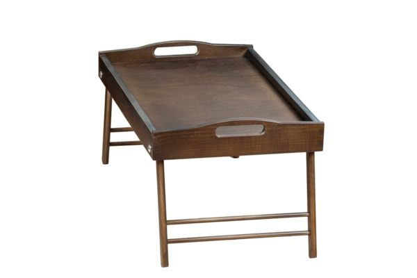 Drewniana taca, stolik śniadaniowy