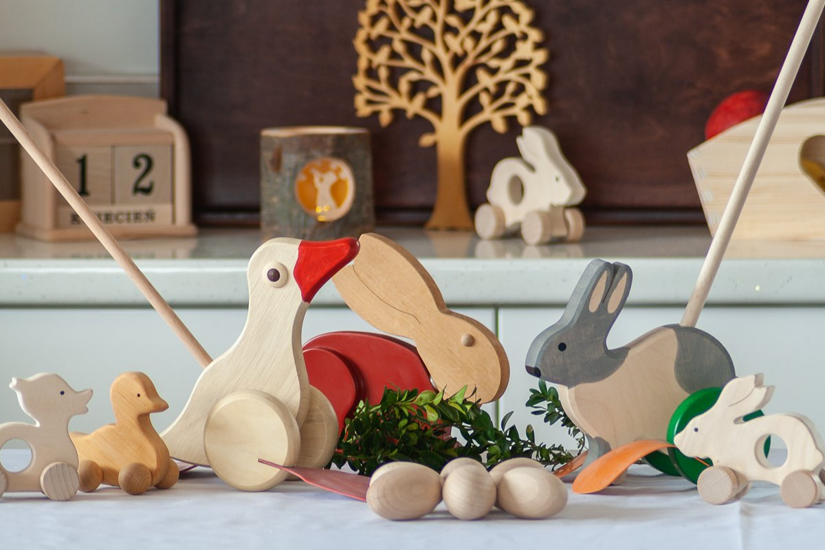 Przybory kuchenne zdrewna - Wielkanoc