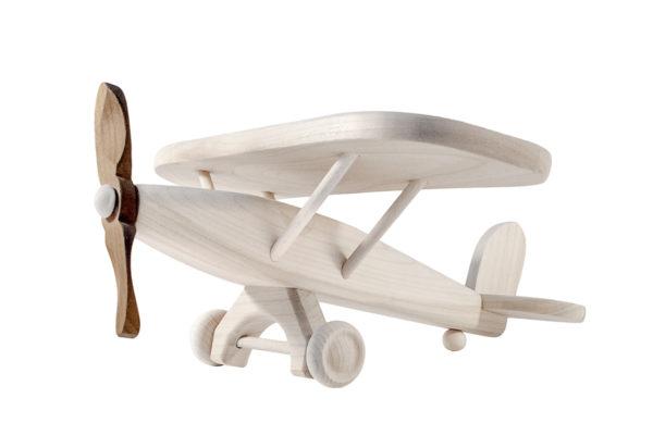 Samolot z drewna – ciemne śmigło