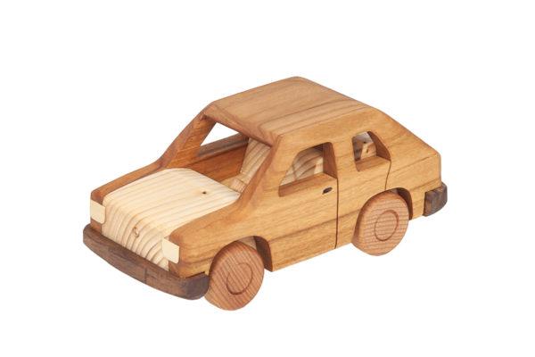 """Duży, drewniany model auta """"Maluch"""""""