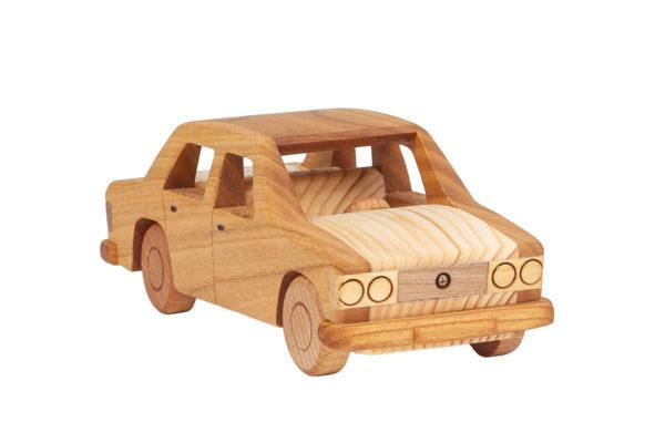 """Duży, drewniany model auta """"Fiat 125p"""""""