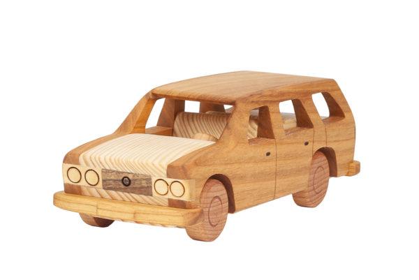 """Duży, drewniany model """"Fiat 125p kombi"""""""