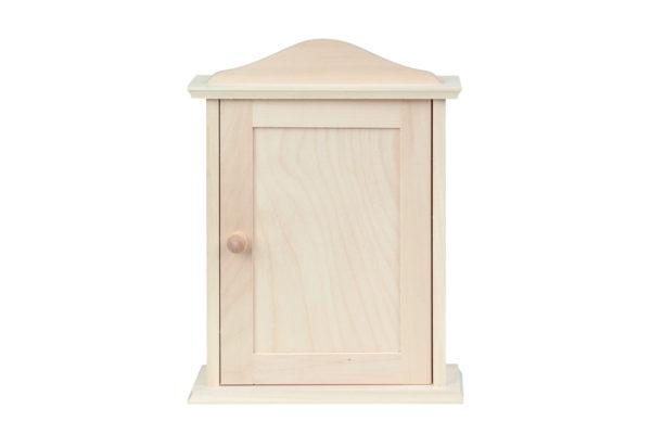 Drewniana szafka, domek na klucze