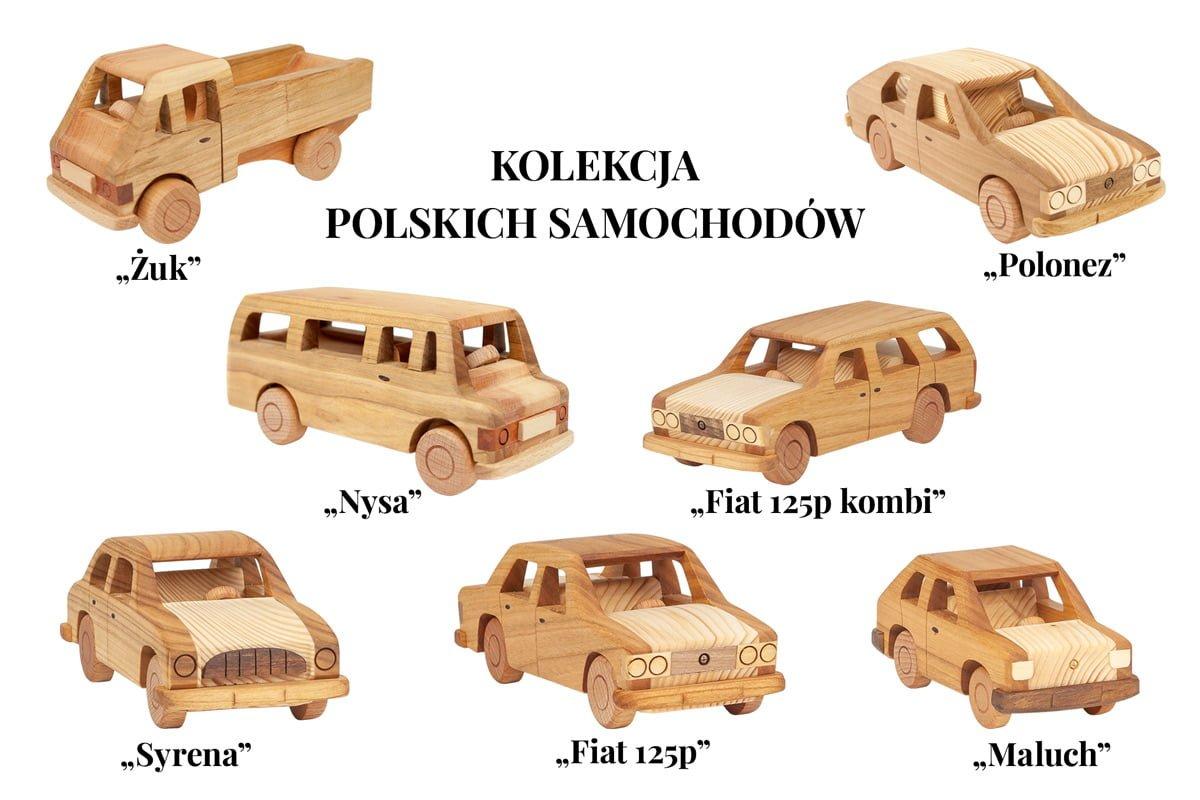 Kolekcja modeli polskich samochodów zczasów PRL