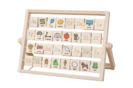 Drewniana tablica edukacyjna - alfabet