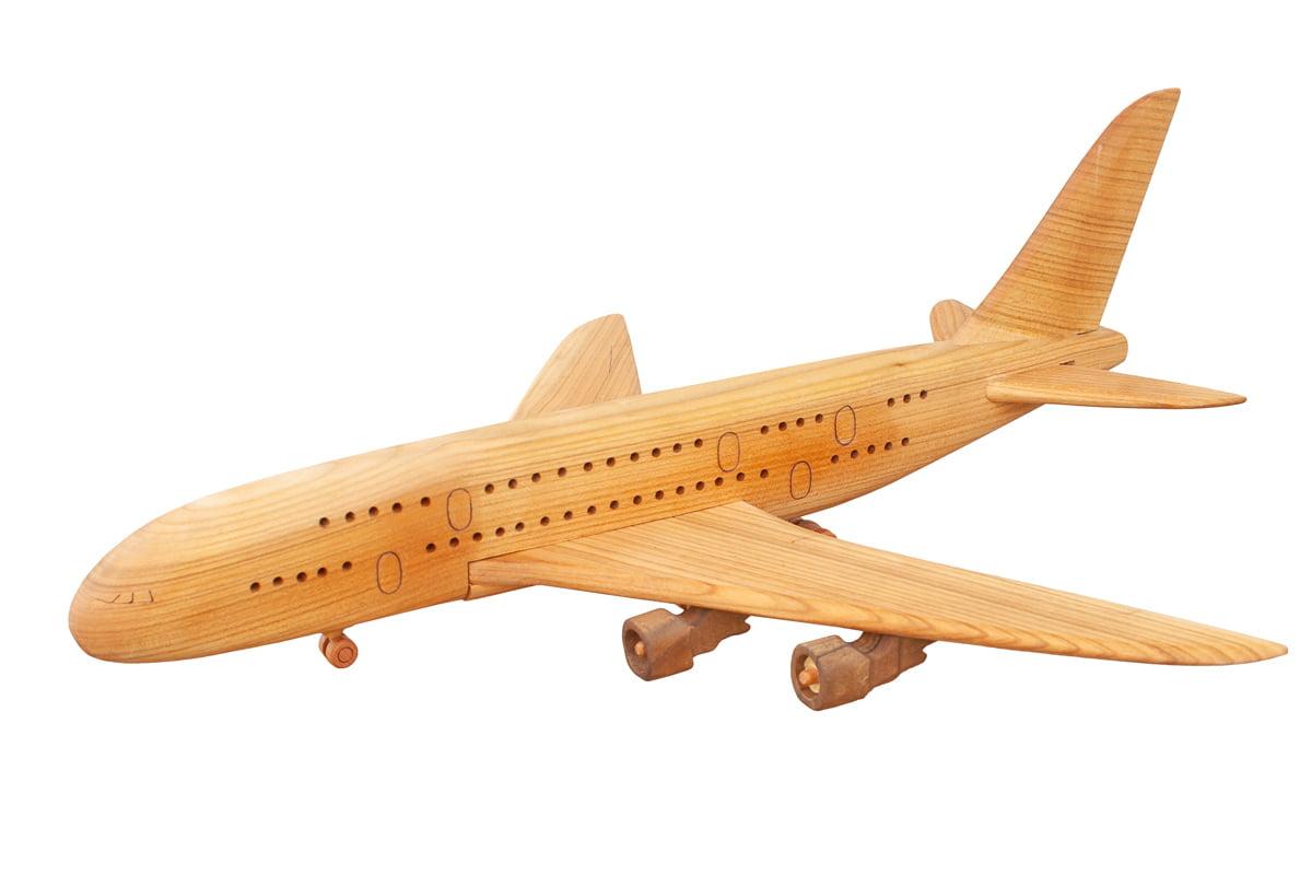 Drewniany model samolotu Airbus A380