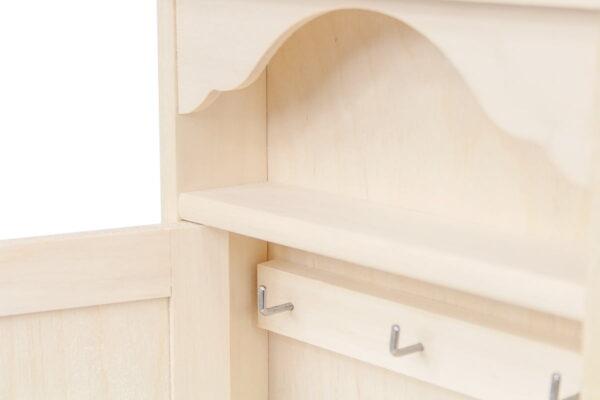 Drewniana skrzynka na klucze z szufladką – grawer
