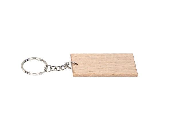 Drewniany breloczek do kluczy, prostokątny