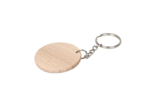 Drewniany breloczek do kluczy, okrągły