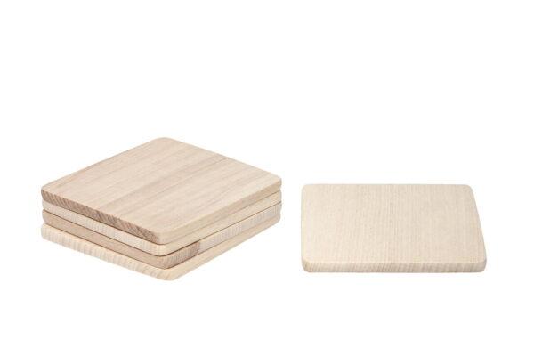 Drewniana podkładka pod kubek lub kufel