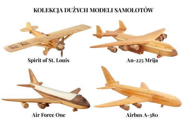 Duże modele samolotów z drewna