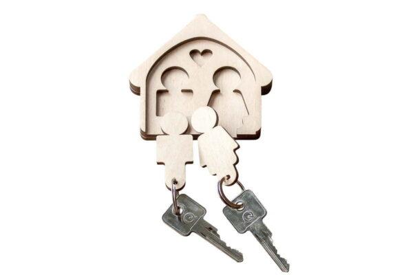 Wieszak na klucze z breloczkami