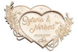 Dwa serca, zawieszka ślubna - personalizacja