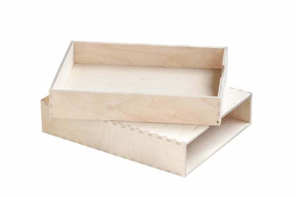 Drewniany organizer z 1 szufladą