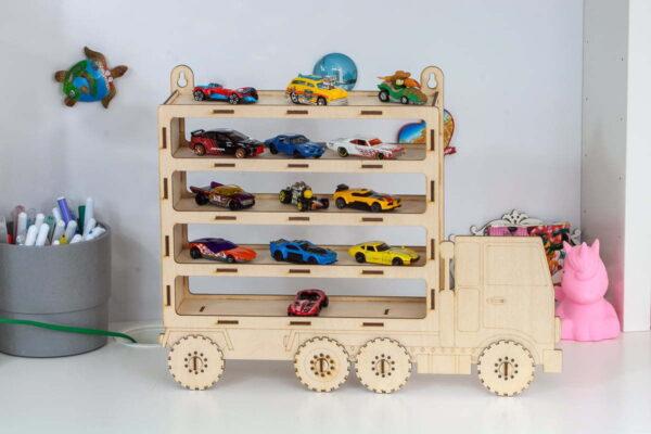 Ciężarówka, półka na samochodziki