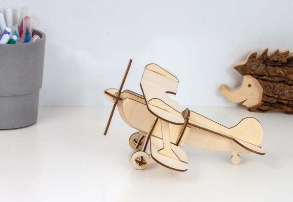 Samolot dwupłatowy, puzzle 3D