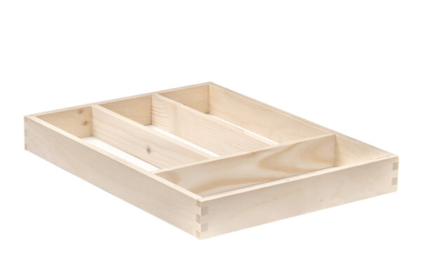 Drewniany sorter na sztućce, wkład do szuflady