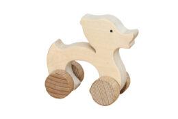 Kaczka - drewniana figurka na kołach