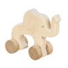 Słoń - drewniana figurka na kołach