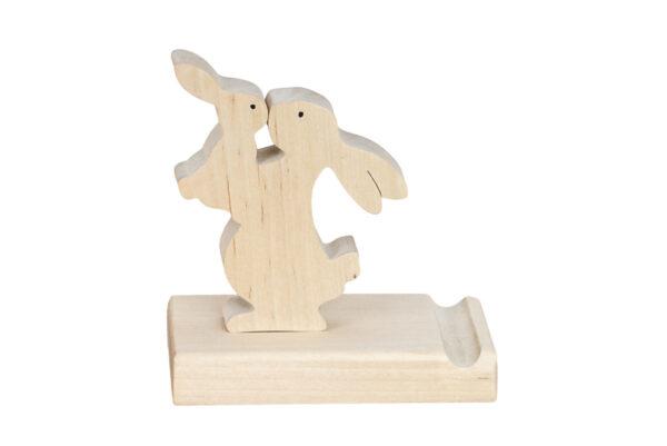 Podstawka pod telefon z figurką króliczka
