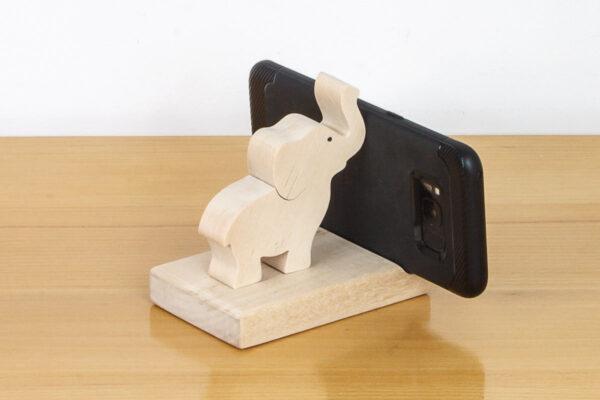 Podstawka pod telefon z figurką słonia